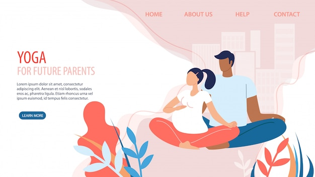 Sitio web de yoga para futuros padres flat