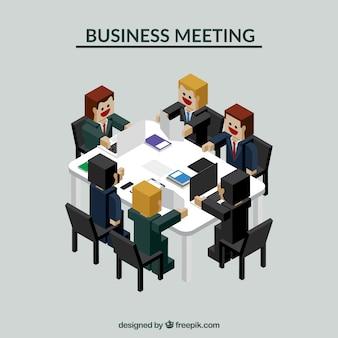 Situación de negocios durante una reunión