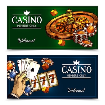 Sketch casino banners horizontales
