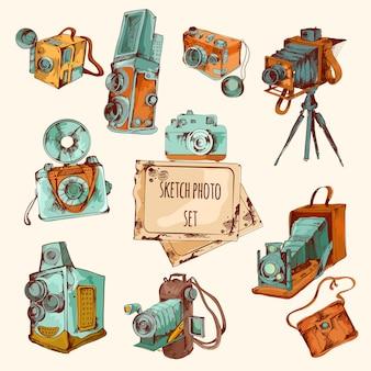 Sketch foto coloreado conjunto