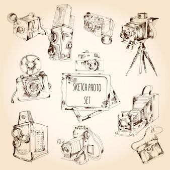 Sketch photo set