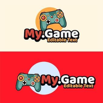 Skull gaming with joy stick emblema estilo moderno
