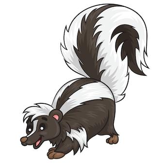 Skunk linda de dibujos animados