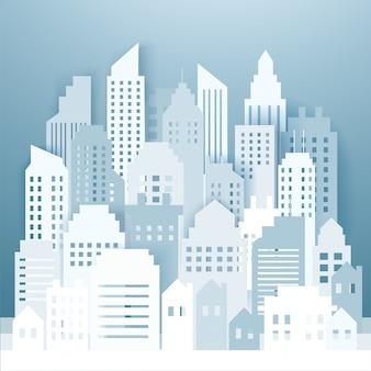 Skyline de la ciudad moderna