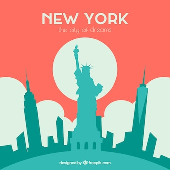 Skyline roja de nueva york