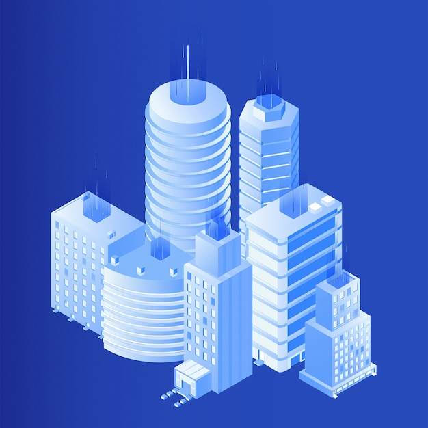 Smart city isometric