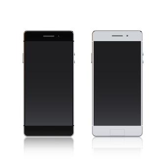 Smartphone blanco y negro