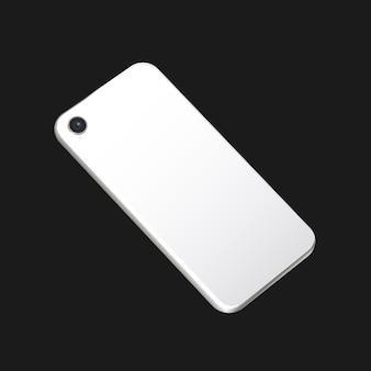 Smartphone en blanco, vista posterior