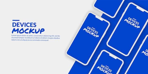 Smartphone conceptual con pantalla en blanco para desarrollo de aplicaciones y diseño de ux / ui