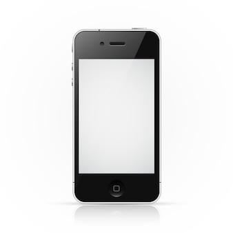 Smartphone iphone con pantalla en blanco
