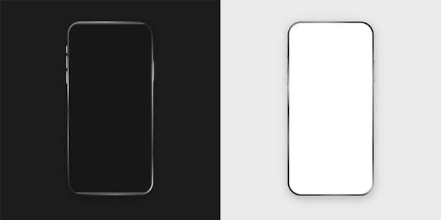 Smartphone moderno con blanco negro