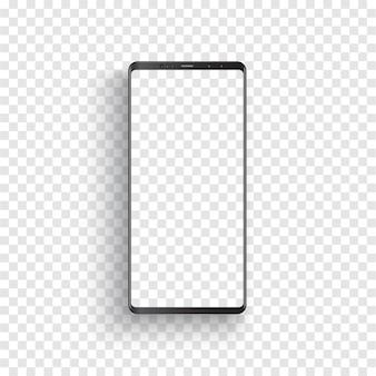 Smartphone negro realista moderno.