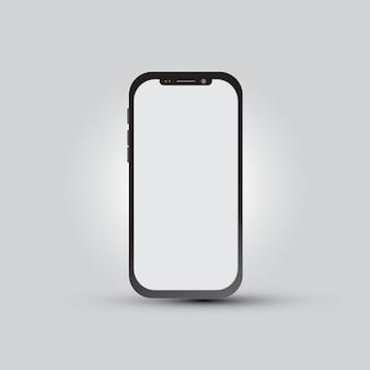 Smartphone con pantalla en blanco para presentación de aplicaciones