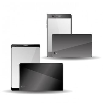 Smartphone con pantalla táctil de dos vistas frontal y trasera de doble cámara
