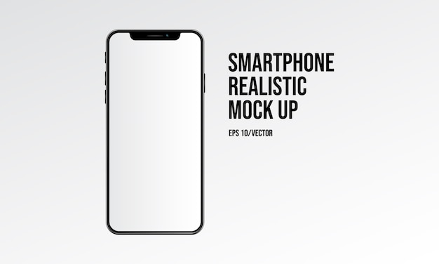 Smartphone realista mock up