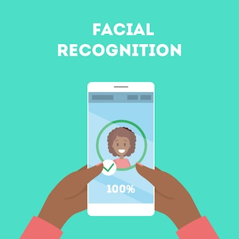 Smartphone con reconocimiento facial