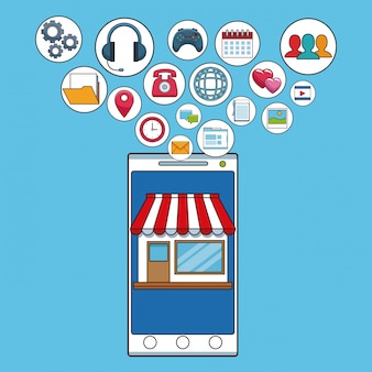 Smartphone y red social