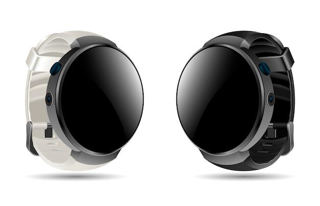 Smartwatch realista. reloj deportivo digital.