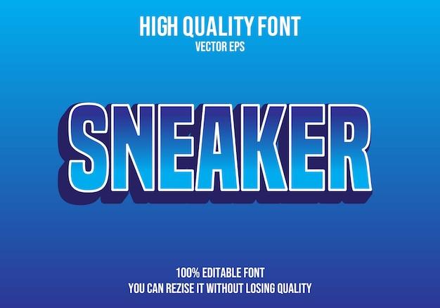 Sneaker efecto de texto editable