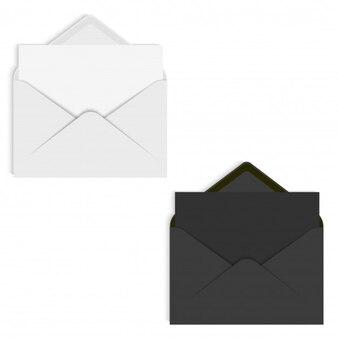 Sobre de maqueta realista para carta o tarjeta de invitación