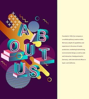 Sobre nosotros diseño de tipografía.