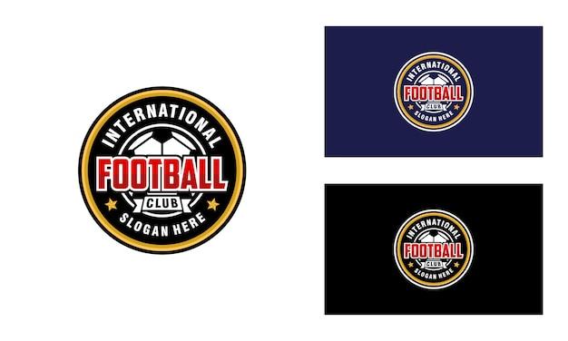 Soccer club, football logo design