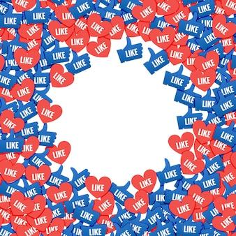 Social network marketing como y corazón icono