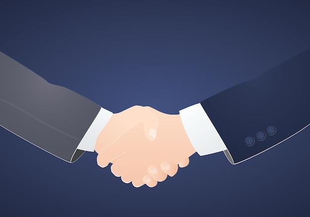 Socios comerciales apretón de manos concepto inspiración negocios