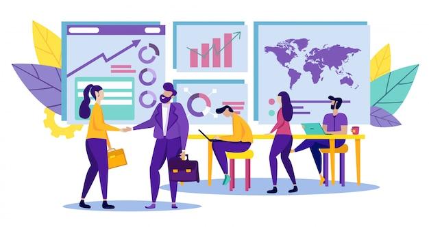 Socios de negocios en la oficina