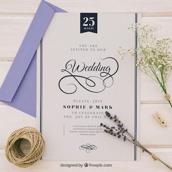 Sofisticada invitación de boda
