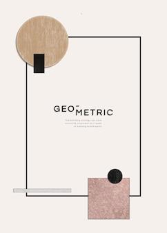 Sofisticado marco geométrico moderno.