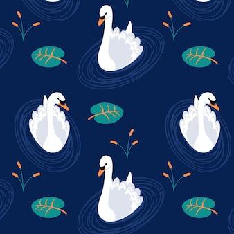 Sofisticado patrón de cisne