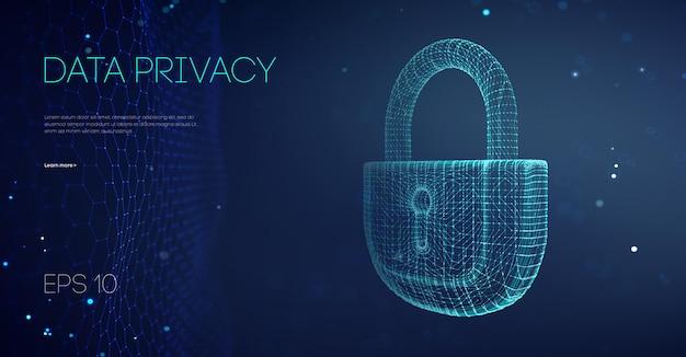 Software del gobierno de privacidad de datos. datos de protección de piratas informáticos del servidor de correo electrónico. ataque de datos de seguridad en la nube. la alarma bloquea los datos del servidor. asiático es compatible con la ilustración vectorial. ilustración de vector.