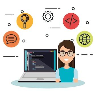 Software programador de lenguaje avatar