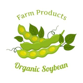 Soja orgánica natural, nutrición vegetariana