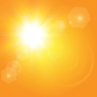 Sol cálido. rayos solares leto.bliki.