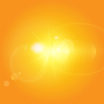 Sol cálido sobre un fondo amarillo.