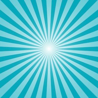 Sol y rayos en azul