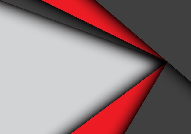 Solapa roja de la flecha negra en fondo gris.
