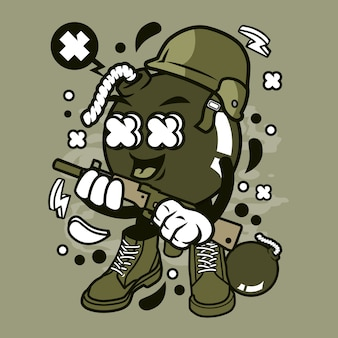 Soldado bomb cartoon