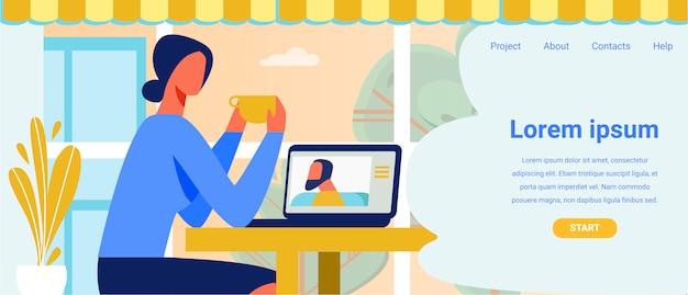 Solicitud de oferta de página de destino para videollamada
