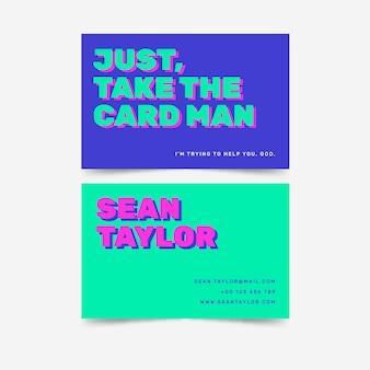 Solo toma la idea de negocio del hombre de la tarjeta