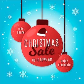 Solo venta de navidad de diseño plano en línea