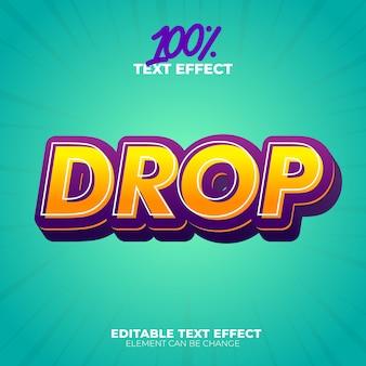 Soltar efecto de texto