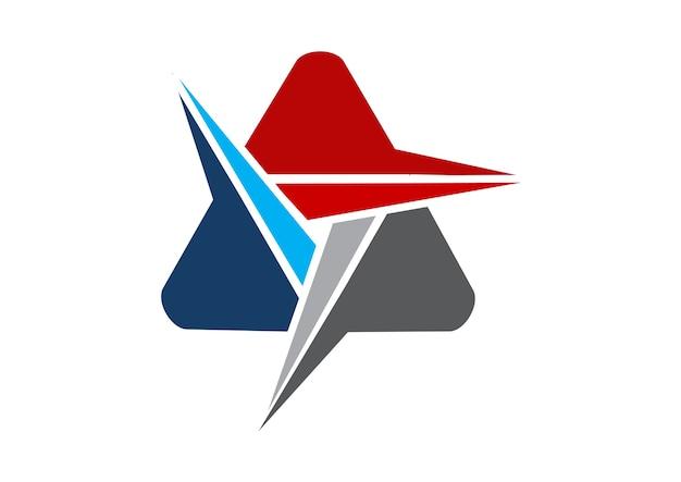 Solución de logotipo moderno letra a