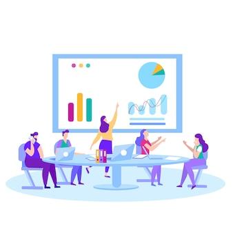 Soluciones de análisis de mercado de formación de reuniones