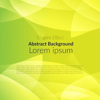 Sombra abstracta amarilla sobre fondo verde