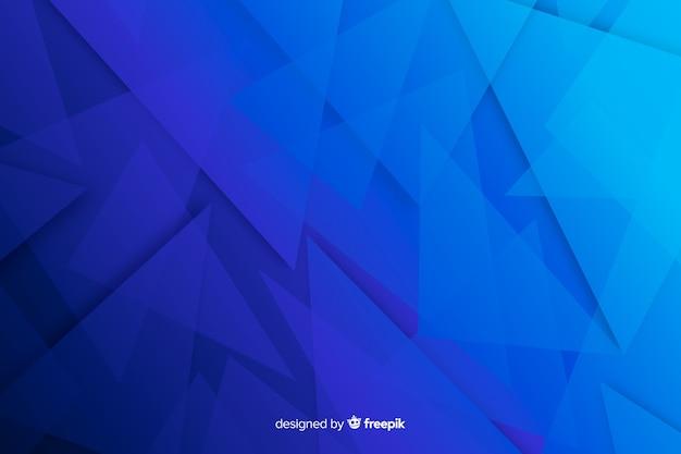 La sombra azul forma el fondo abstracto