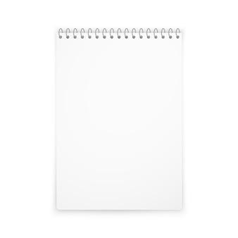 Sombra de maqueta de cuaderno vertical