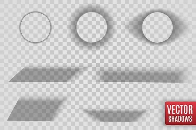 Sombras aisladas. ilustración realista de sombra transparente.